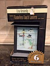 Flameless Coach Lantern with Timer featuring Let It Snow By Lisa Kennedy