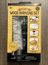15Pcs Professional Wood Burning Kit Set Soldering Tip 11 Interchangable Tips