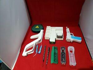 Wii accessories bundle Lot No Console Zelda Stand Case Zapper Guns