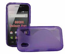 Rubber Case Wave für Samsung S5830 Galaxy Ace in lila Silikon Skin Hülle purple