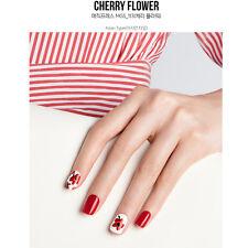 Dashing Diva Magic press Gel Nail Acrylic Art Wrap Cherry Flower K-Beauty 30 pcs
