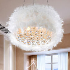 Chandeliers For Girls Rooms Bedrooms Feathers Crystals Light Chandelier Lighting