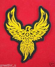 Iron on patch logo Bird gold color sew on jackets or hat+for gift handmad