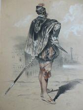 LITHOGRAPHIE FRAGONARD 1840 / LE BRAVO  XVIe