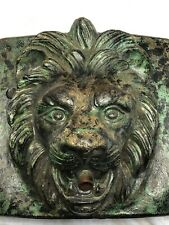 1 Bronzed Style Stone Garden Lion Wall Fountain Mask Spout Plaque Water Feature