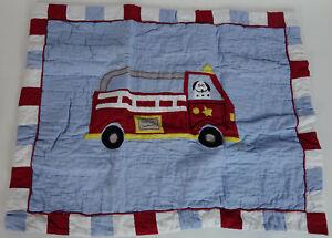 NEW Boys Kids Red Fire Engine Dalmatian Dog 100% Cotton Standard Pillow Sham