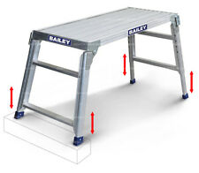 Bailey Ladders Work Platform 150kg Big Top 1100 X 470mm Adjustable Legs FS13737