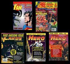 OVERSTREET FAN #1, COMBO #1, CARDS #1, HERO ILLUSTRATED #1-2