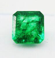 8,55 CT Natürliches grünes Smaragd Smaragdform Edelsteine Ggl zertifiziert