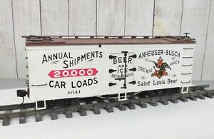 USA TRAINS / ANHEUSER BUSCH / ST. LOUIS, MO / WOODEN BILLBOARD REEFER