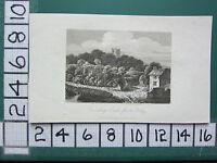 1807 Fecha Antigüedad Yorkshire Estampado ~ Coninsburgh Castillo De The Aldea