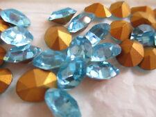 1/2 Gross Swarovski Crystal Oval Rhinestones 10x8 Aquamarine 4100 #2s !!!!
