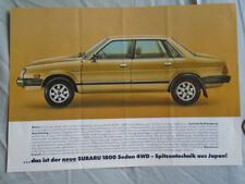 Subaru 1800 Sedan 4WD  brochure c1980's German text