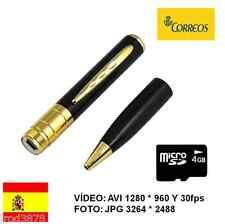 BOLI ESPIA CON CÁMARA OCULTA BOLIGRAFO HD 1280 * 960 + MICRO SD 4GB