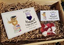 Personalised Teacher thank you End of Term School Leaving card sweet gift