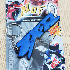 For Kawasaki Ninja ZX6/7/9/10/12R Soft Rubber Motorcycle Key Ring Keychain Blue