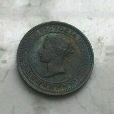 1901 Ceylon 1/2 Half Cent - Nice Condition - Toned Copper