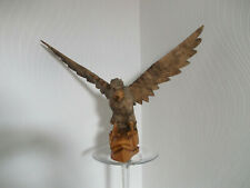 More details for large carved wooden bird of prey eagle sculpture figurine