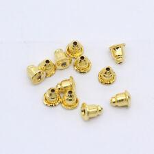 100pc Earring Stud Metal Backs Stopper Pad Bullet Ear Post Nut Jewelry Finding