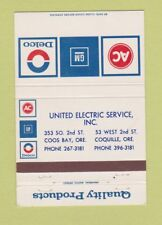 Matchbook Cover - AC Delco GM Parts Coos Bay Coquille OR 40 Strike
