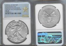 2016-W  burnished  SILVER EAGLE - NGC MS69  ANNUAL DOLLAR SET - WEST POINT LABEL