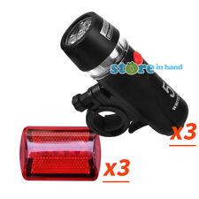 3x Bike Light Front & Rear Kit Bicycle LED Torch Cycling Flashlight Waterproof
