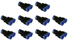 10 Piece Pneumatic Air Quick Push to Connect Fitting 1/4