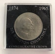 1965 Great Britain Churchill Crown Foreign Coin Rare Very Nice In Plastic Case