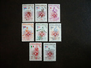 Stamps - Dominican Republic - Scott# B1-B5 & CB1-CB3 - Surcharged