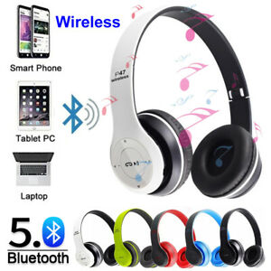 Wireless Bluetooth 5.0 Headphones Noise Cancelling Over Ear Headset With Mic