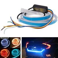 "47"" RGB LED Car Rear LED Strip Lights Brake Driving Signal Flow Lamps Flexible"