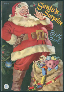 """UNCOLORED """"Santa's Surprise"""" #4875 Merrill 1949 Cover by Haddon Sundblom (7270)"""