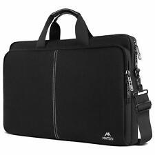 Laptop Shoulder Bag 17.3 PU Leather Handle Briefcase Water Resistant Lightweight
