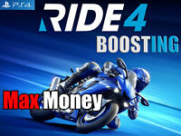 Ride 4 PS4 MOD Boost Max Money ( Not A Game )