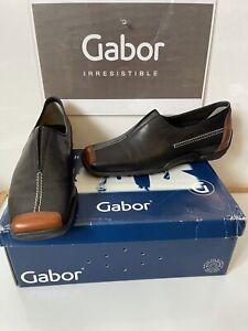 GABOR Comfy Soft Black Leather Shoes Size UK 5.5 EU 38.5