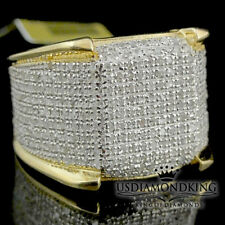 Men's 10k Yellow Gold 1.50ct Genuine Real Diamond Iced Pinky Ring Eternity Band