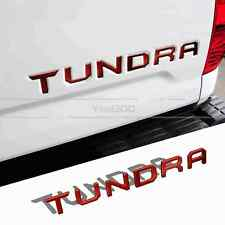 RED Tailgate Letters Insert Plastic Sticker For TOYOTA TUNDRA 2014-2018