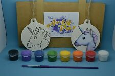 Paint Your Own Unicorn Emoji Hanging Decoration Kit Birthday Gift Set Activity