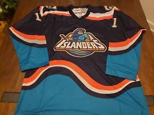 Custom Darius Kasparaitis New York Islanders #11 Fisherman Jersey Size 52/XL