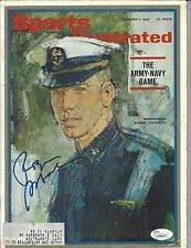 Roger Staubach Signed Autographed Navy Midshipmen Sports Illustrated SI JSA