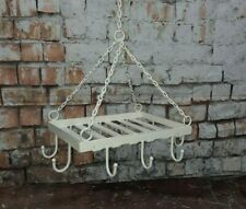 Vintage Rustic Shabby Chic Farm House Cottage Kitchen Hanging Utensil Towel Rack
