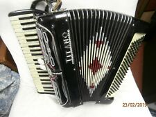 Titano 15208 120 bass piano accordion 1965-1975 shine black and cream marble loo