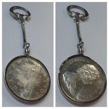 1 Münze Anhänger Elizabeth II.D G Regina Canada 1966 Schlüsselanhänger