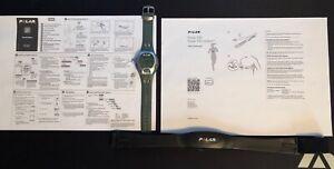 Polar Chest Heart Rate Sensor - Black and Polar watch -grey