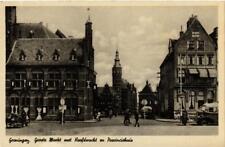 CPA GRONINGEN Groote markt met Hoofdwacht en Provinciehuis NETHERLANDS (604220)