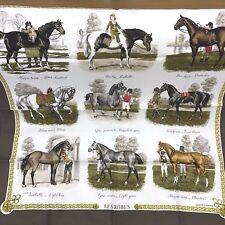 Hermes Paris Scarf Scarves Stole Silk 100% Horse Pattern LES ROBES Women Auth