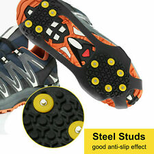 Size S Ice Snow Grips Anti Slip Shoe Boot Studs Crampons Cleats Spikes Grippers