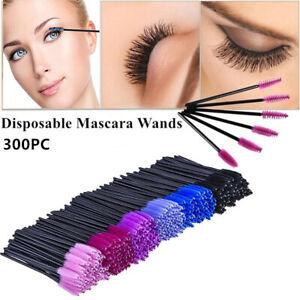 300PC Disposable Mascara Wands Makeup Brushes Eyelash Extension Brush Applicator