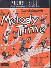 Pecos Bill 1948 Disney's Melody Time Sheet Music