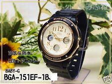 BGA-151EF-1B Black Casio Baby-G Ladies Watches Analog Digital Neon Packy Resin